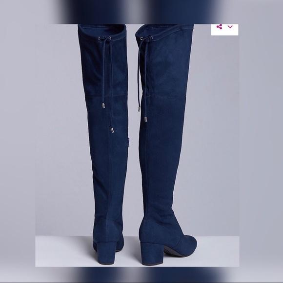 4c1e14663 Navy Blue Thigh High Boots